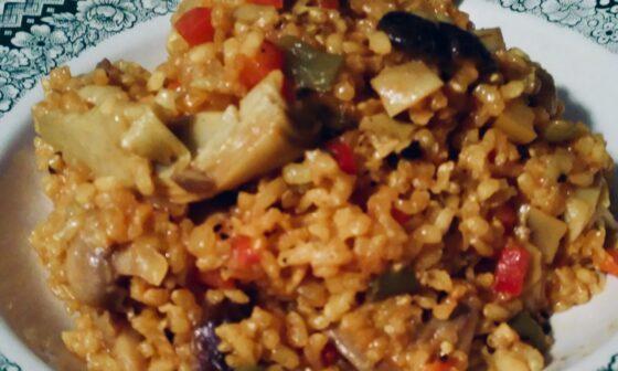 Foto receta arroz integral con verduras